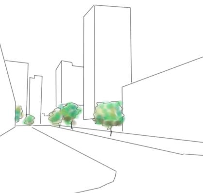 zonas verdes en el lugar